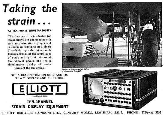 Elliott Brothers Ten-Channel Strain Display Equipment
