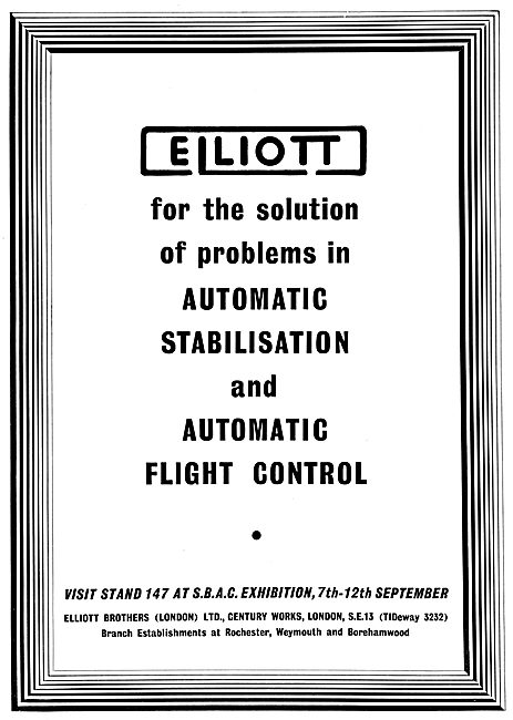 Elliott Brothers Automatic Stabilisation & Flight Control