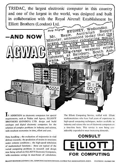 Elliott Brothers TRIDAC Electronic Computer - AGWAC Computer