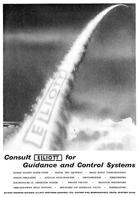 Elliott Brothers Missile Guidance & Control Systems 1956