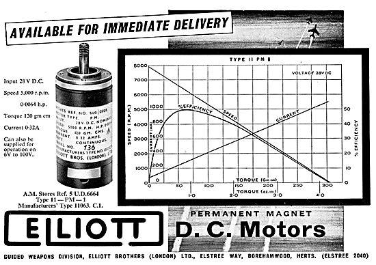 Elliott Brothers D.C. Motors