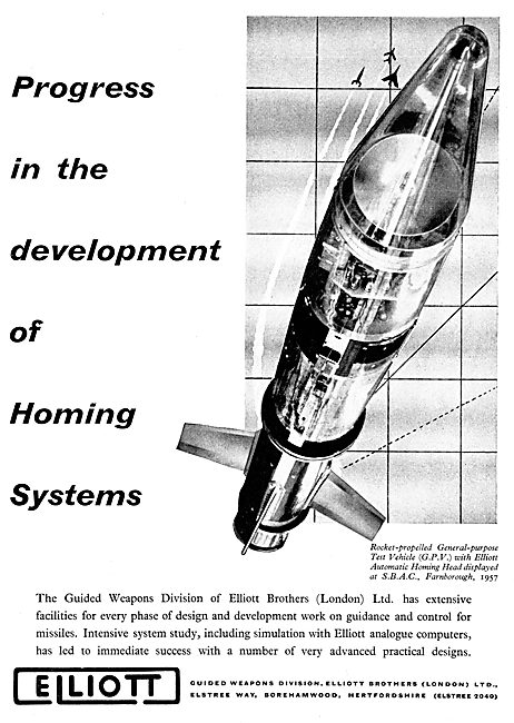 Elliott Brothers Guidance & Controls For Guided Missiles