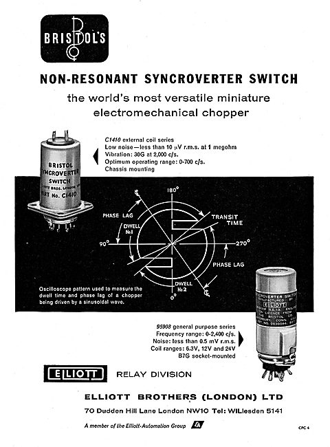 Elliott Brothers Bristol Non-Resonant Syncroverter Swicth