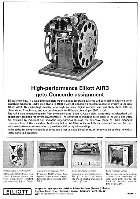 Elliott Brothers Magnetic Tape Systems