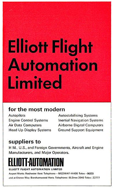 Elliott Flight Automation. Aircraft Flight Control Systems