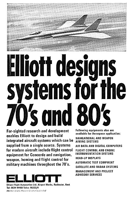 Elliott Flight Automation. Navigation & Weapons Systems