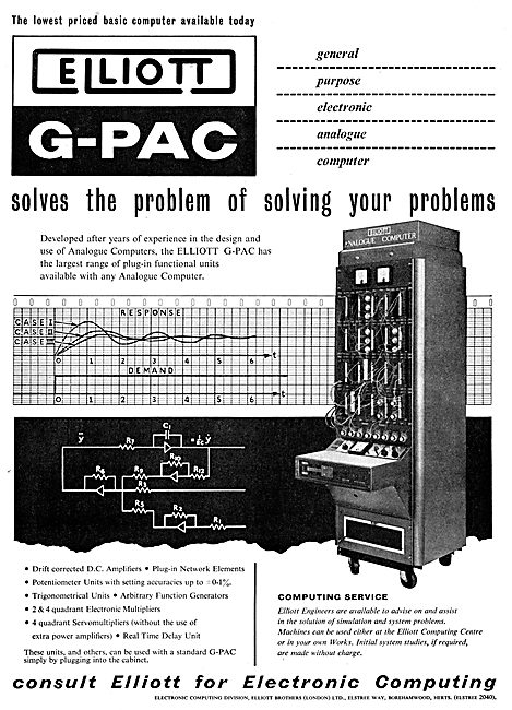 Elliott Brothers G-PAC Electronic Computers