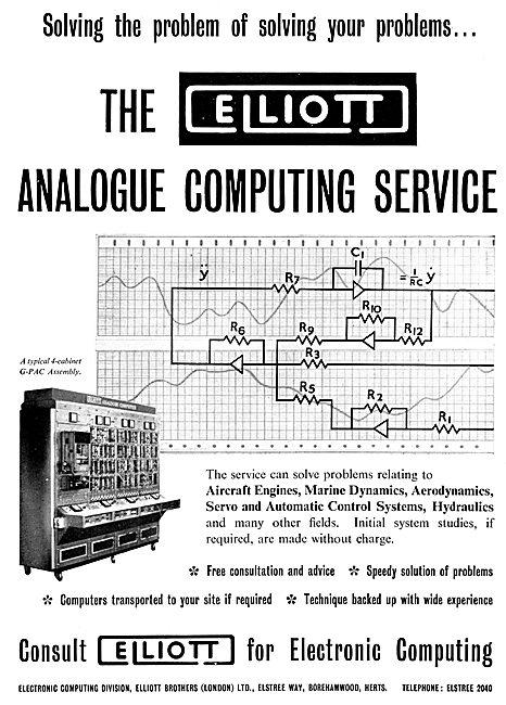Elliott Brothers Analogue Computing Service