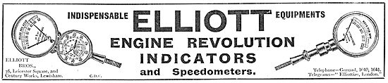 Elliott Brothers Aeroplane Engine Revolution Indicators