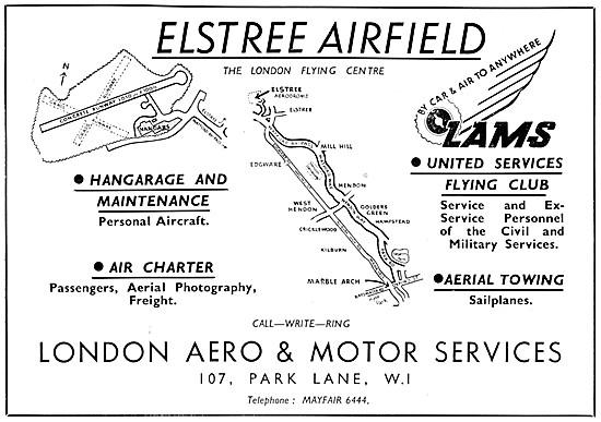 LAMS. London Aero & Motor Services Elstree