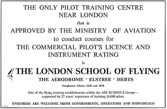 The London School Of Flying Elstree Aerodrome