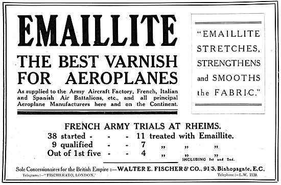 Emaillite Aeroplane Varnishes & Dopes