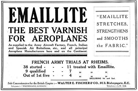 Emaillite Aeroplane Varnishes & Dopes