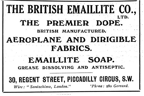 Emaillite Dope For Aeroplanes & Dirigibles