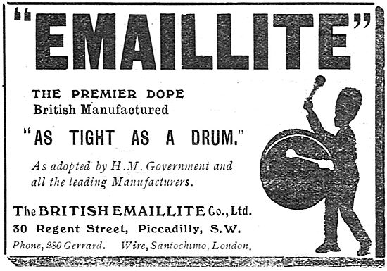 British Emaillite Dope & Fabrics - As Tight As A Drum