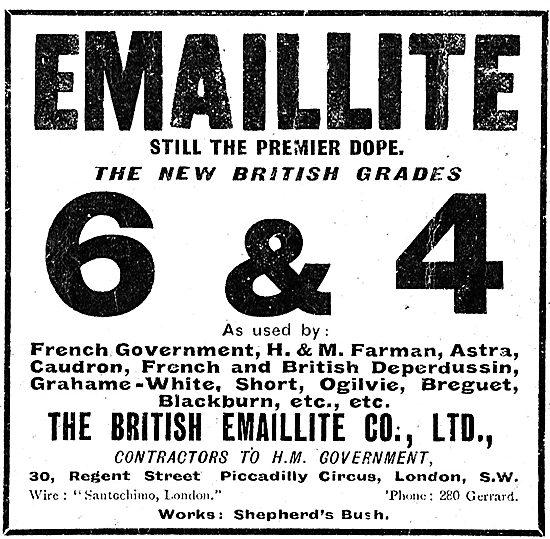 No 6 & 4 Grade British Emaillite Aeroplane Dope & Fabrics