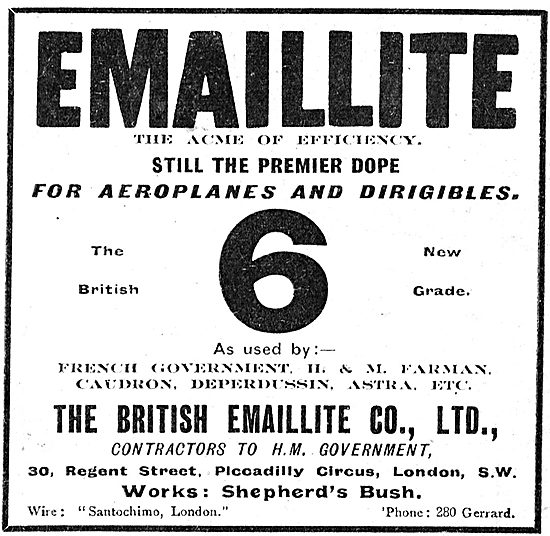 No 6 Grade British Emaillite Aeroplane Dope