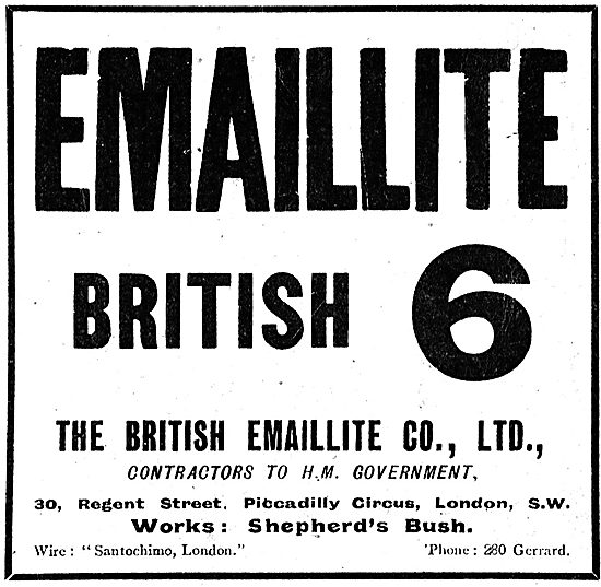 British 6 Emaillite Aviation Dope