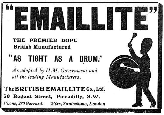 Emaillite Aircraft Dope Used By All Leading Manufacturers