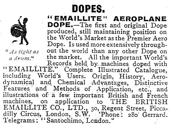 Emaillite Aircraft Dope - Tight As A Drum The First And Original