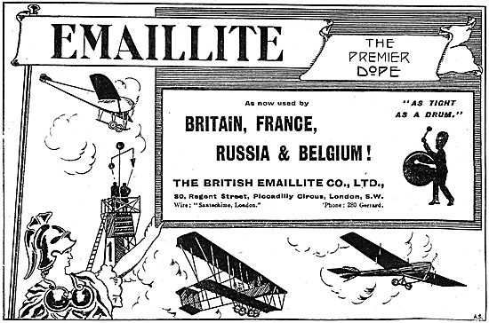Emaillite Aircraft Dope Used By Britain, France, Russia & Belgium