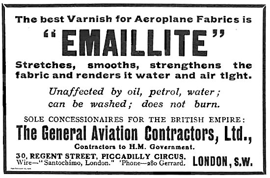 Emaillite Varnish For Aeroplane Fabric