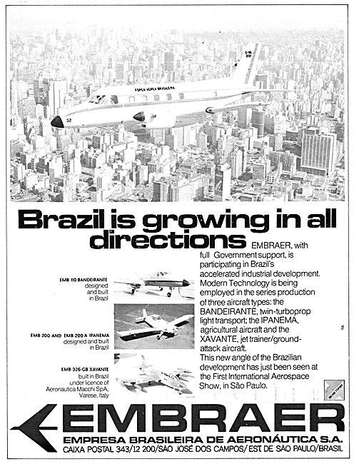 Embraer Bandeirante - Embraer Ipanema - Embraer Xavante