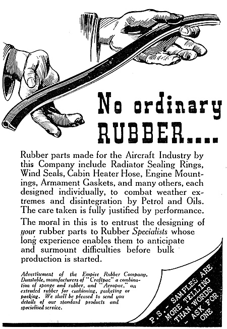 Empire Rubber - Moulded & Extruded Rubber For Aircraft