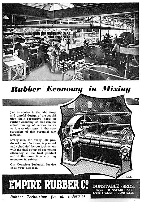Empire Rubber - Rubber For Aircraft Engineering 1942