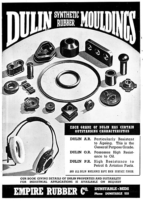 Empire Rubber - Dulin Synthetic Rubber Mouldings 1945