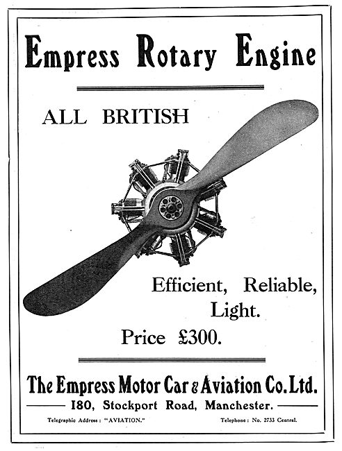 Empress Rotary Aero Engine - Stockport Rd. Manchester