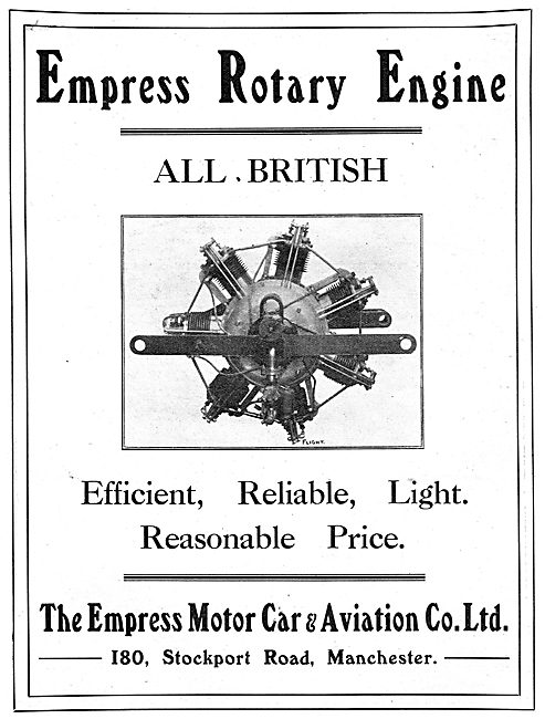 Empress Rotary Aero Engine