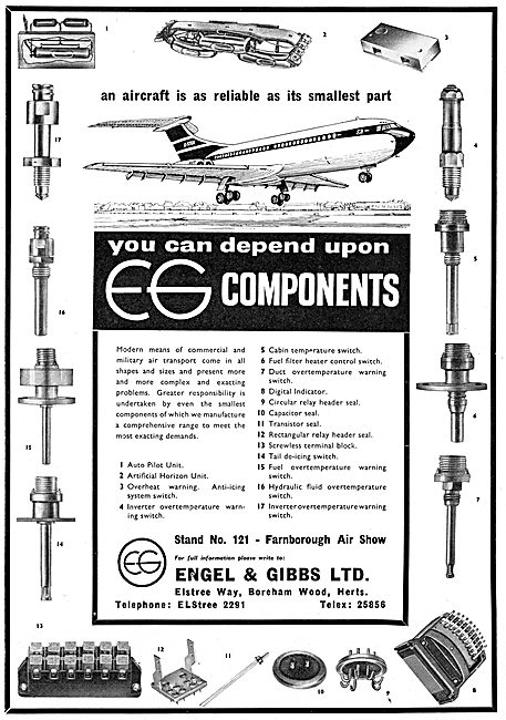 Engel & Gibbs Electrical Accessories & Switches For Aircraft