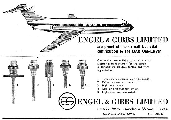 Engel & Gibbs Temperature Sensitive Control & Warning Switches