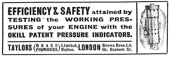 Taylors (Brass Founders) Ltd Okill Pressure Indicators