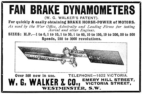 W.G.Walker & Co - Fan Brake Dynamometers