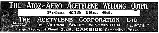 The Acetylene Corporation - Atoz-Aero Acetylene Welding Ouffit