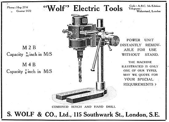 S.Wolf & Co Electric Drills & Tools For The Aircraft Industry