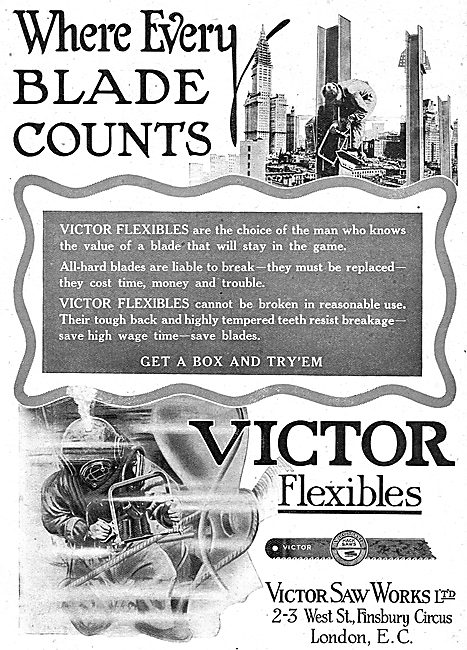 Victor Saw Works - Victor Flexibles Saw Blades For Aircraft Work