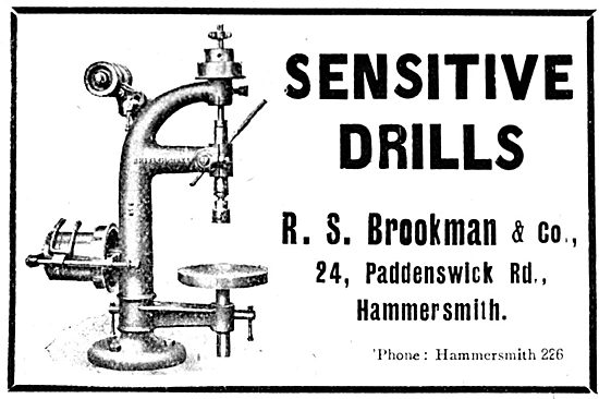 R.S.Brockman & Co. 24 Paddenswick Rd. Sensitive Drills