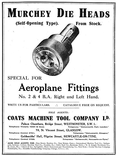 Coats Machine Tool Company - Murchey Die Heads