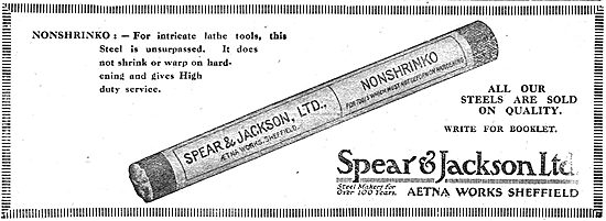 Spear & Jackson Steel & Lathe Tools