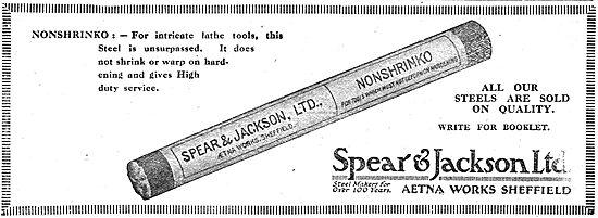 Spear & Jackson Steel & Lathe Tools