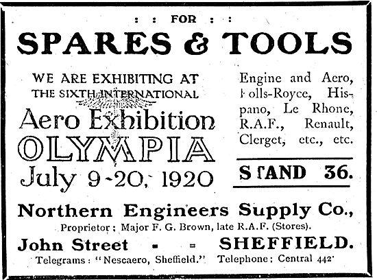 Northern Engineers Supply Co: Aero Engine Spare & Tools