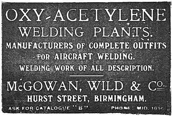 McGowan Wild & Co Oxy-Acetylene Welding Plants