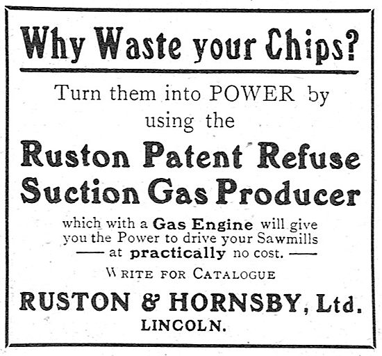 Ruston & Hornsby Patent Refuse Suction Gas Producer