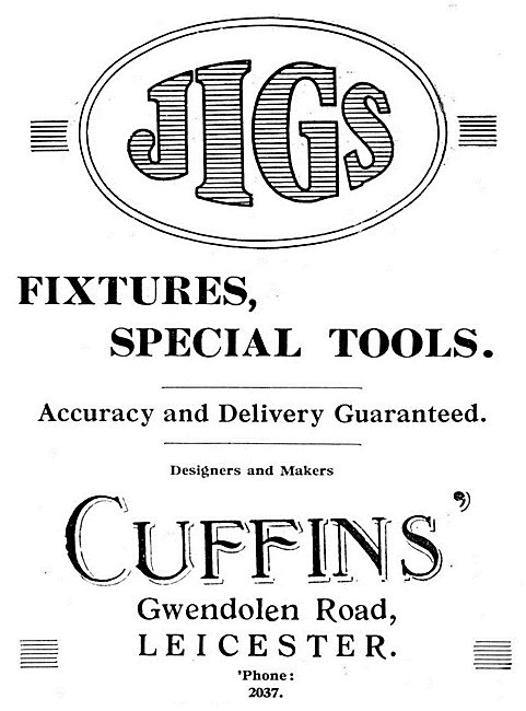 CUffins Jigs,Fixtures & Special Tools