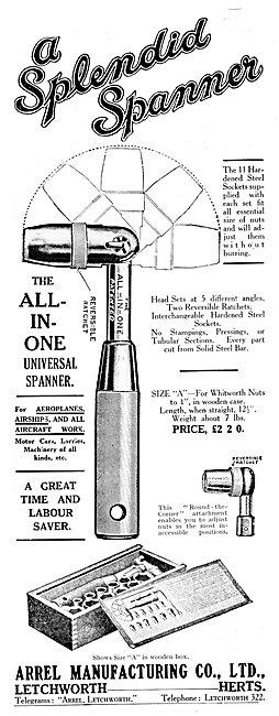 Arrel Spanners & Socket Sets 1925