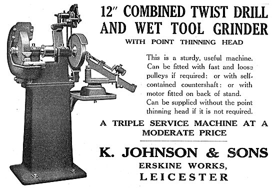 K.Johnson & Sons Machine Tools. Erskine Works. Leicester
