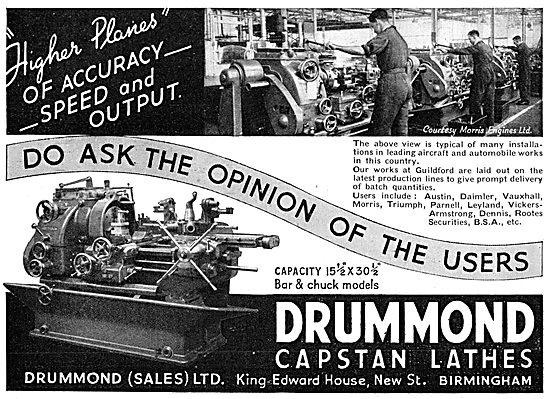 Drummond  Capstan Lathes